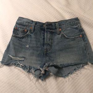 Women's free people x Levi denim shorts